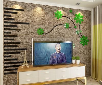 Ideeen Muur Woonkamer : Cherry fly 3d acryl driedimensionale muurstickers woonkamer sofa tv