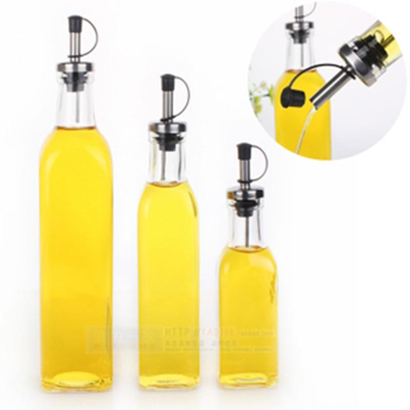 bouteille d huile d olive et de vinaigre en verre ustensiles de cuisine huileur bouteilles de condiments cruet bouteille d huile d olive carree