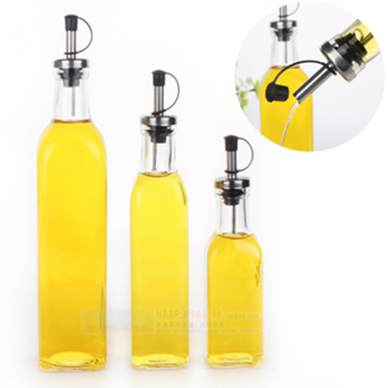 Kitchenware Glass Oil U0026 Vinegar Bottle Oiler Cruet Condiment Bottles Olive  Oil Bottle Square Oil 280ML 1 Pc In Storage Bottles U0026 Jars From Home U0026  Garden On ...