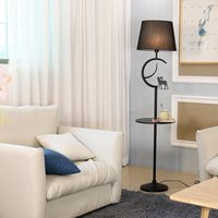 Modern Floor Lamp For Living Room Loft Standing Light Fixtrue White Fabric Lampshade Decor Home Lighting Black Iron E27 110 240V