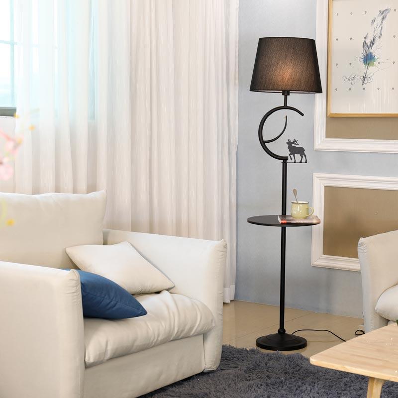 Modern Floor Lamp For Living Room Loft Standing Light Fixtrue White Fabric Lampshade Decor Home Lighting