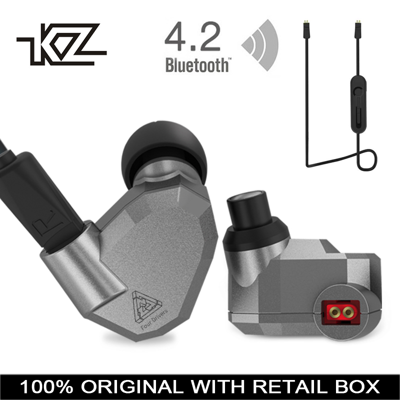 KZ ZS5 Bluetooth Headphone Wireless Sport Noise Canceling Earphone Amplifer with Mic Heavy Bass High Quality for Boy for Samsung original fashion bluedio t2 turbo wireless bluetooth 4 1 stereo headphone noise canceling headset with mic high bass quality