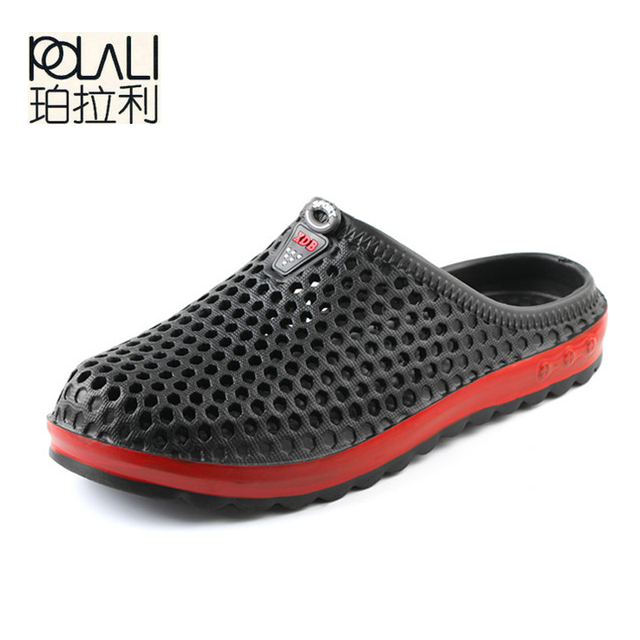 d157968c6f0271 POLALI Beach Slippers Men Summer New EVA Massage Mens Hot Sale Rubber  Unisex Sandals Fashion Hollow Outdoor Walking Slippers