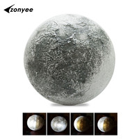 LED Wall Moon Night Light With Remote Control Relaxing Healing Moon LED Nightlight Lamp Home Decoration