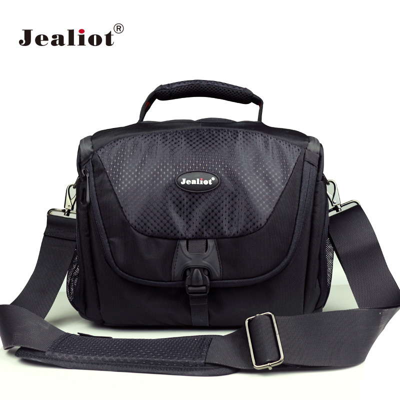 Jealiot Camera Bag photo foto case Shockproof Waterproof DSLR SLR Messenger Bag for Canon Nikon Sony Panasonic Lens rain cover-in Camera/Video Bags from Consumer Electronics    1