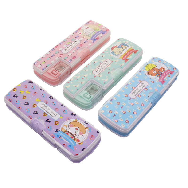 Creative Student School Office Stationery Floral Pattern Stationery Box Random Style Pencil Cases 215*75*32mm Student Pencil Bag 220909 school gifts boxes pupil men multifunctional creative disney child pencil box primary school student