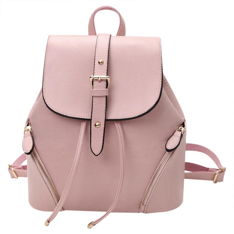 Hot Sale Women Backpack Rucksack Luxury PU Leather School Bag Satchel Bookbag Shoulder Students Teenage Backpacks Tote 2018 New