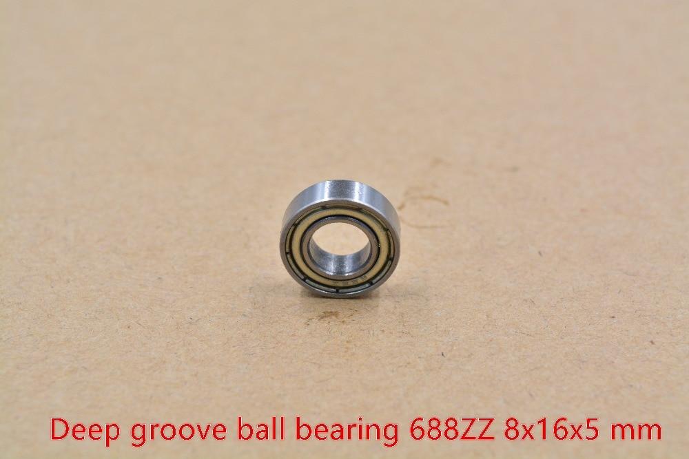 10PCS 8x16x4 mm S688zz Width 4mm 440c Stainless Metal Shielded Ball Bearings