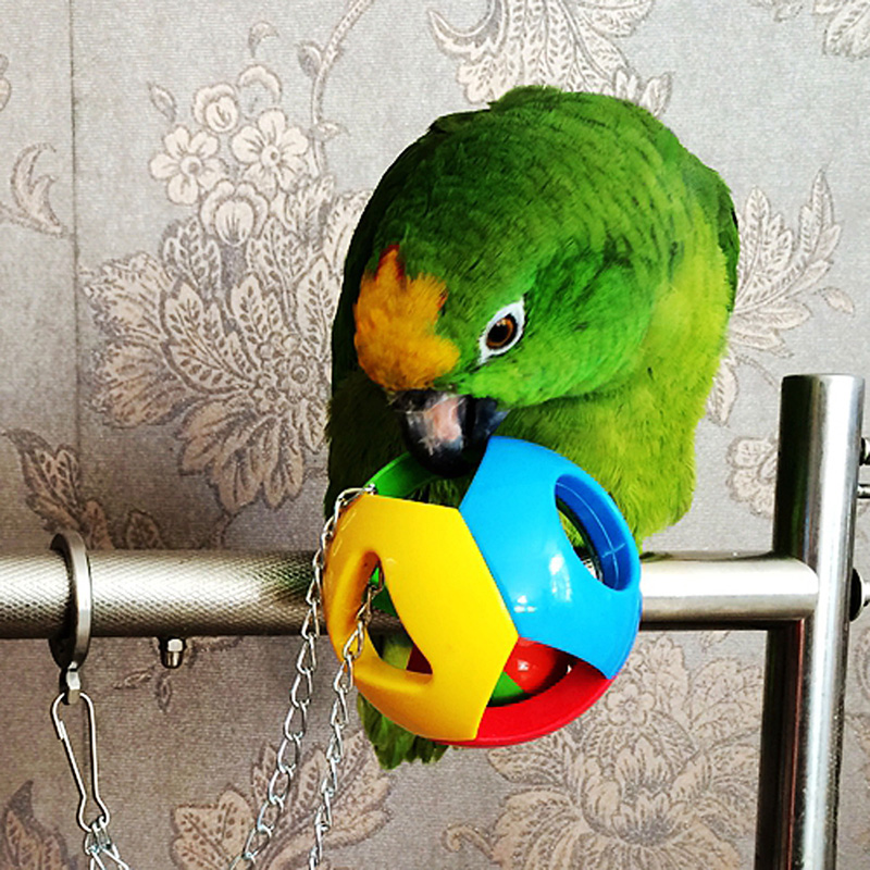 Pet Bird Bites Toy Parrot Chew Ball Toys For Parrots Swing Cage Hanging Cockatiel brinquedos Birds