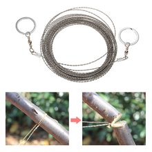 цена на 10M Survival Wire Saw Cutter Outdoor Emergency Fretsaw Camping Hunting Wire Saw Survival Tool Stainless Steel Climbing Gear
