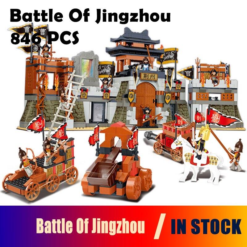Kits de construction modèles compatibles avec la ville chevalier trois royaumes bataille de Jingzhou blocs 3D jouets éducatifs loisirs