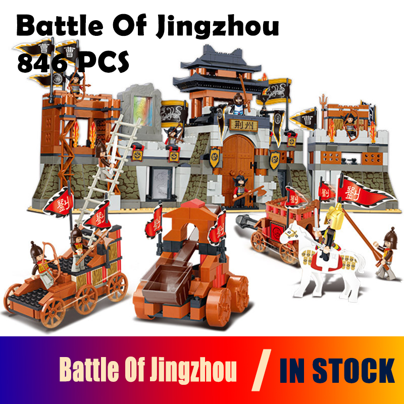 Model building kits compatible with lego city Knight Three Kingdoms Battle Of Jingzhou 3D blocks Educational toys hobbies lepin 02012 city deepwater exploration vessel 60095 building blocks policeman toys children compatible with lego gift kid sets