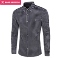 Mens Plaid Shirts Dress Shirt Camisa Social Long Sleeve Casual Designer Shirts Man 2017 Men Clothing Chemises Homme Plus Size
