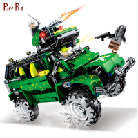 530pcs Military Speed Racing Car Pull Back Vehicle High tech Building Blocks Compatible Legoed Technic Army Bricks Toys For Kids