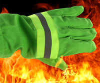Free shipping hot selling fire fighting hot insulated working gloves safety protecting gloves two pairs fireman extinguish glove