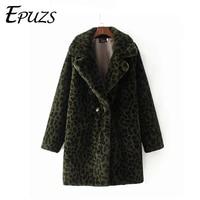 Winter fur jacket Warm Leopard print faux fur coat Streetwear long sleeve thick teddy coat Outwear abrigo mujer lady long coat