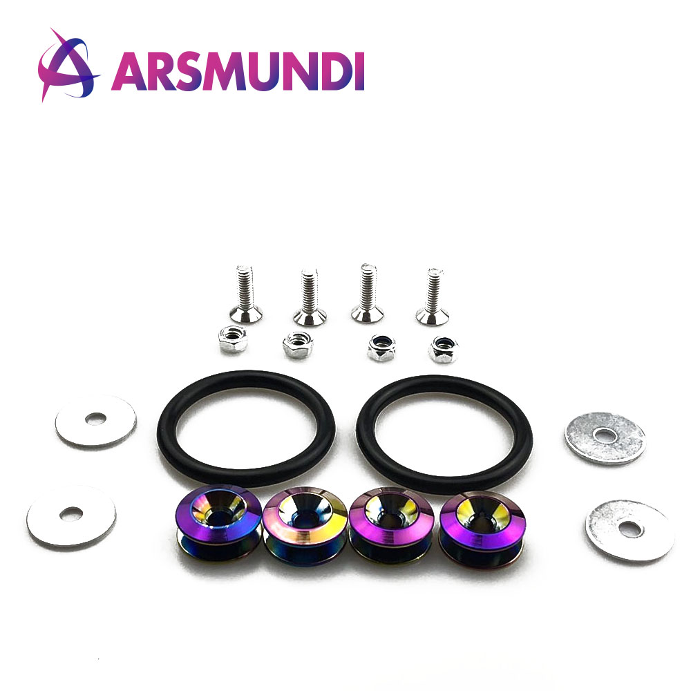 jdm style aluminum bumper quick release fasteners fender washers  honda civic integra rsx