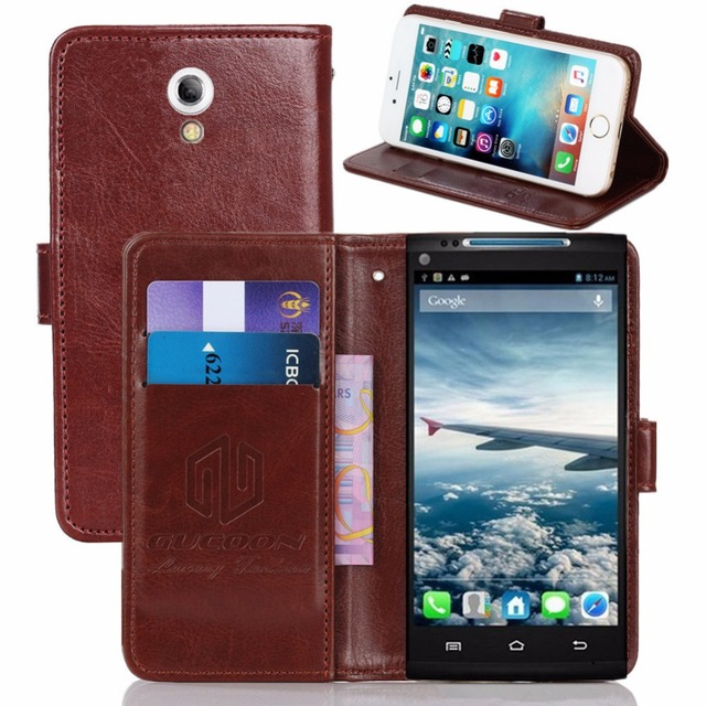GUCOON Vintage Wallet Case for CUBOT X6 5.0inch PU Leather Retro Flip Cover Magnetic Fashion Cases Kickstand Strap