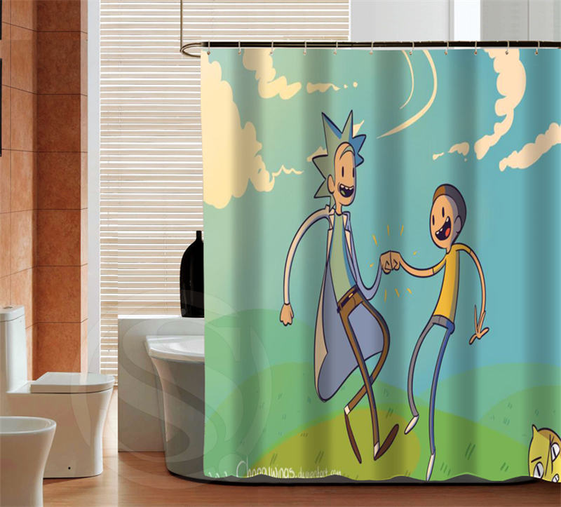 Fashion Rick and Morty high quality custom Shower Curtain Bathroom ...