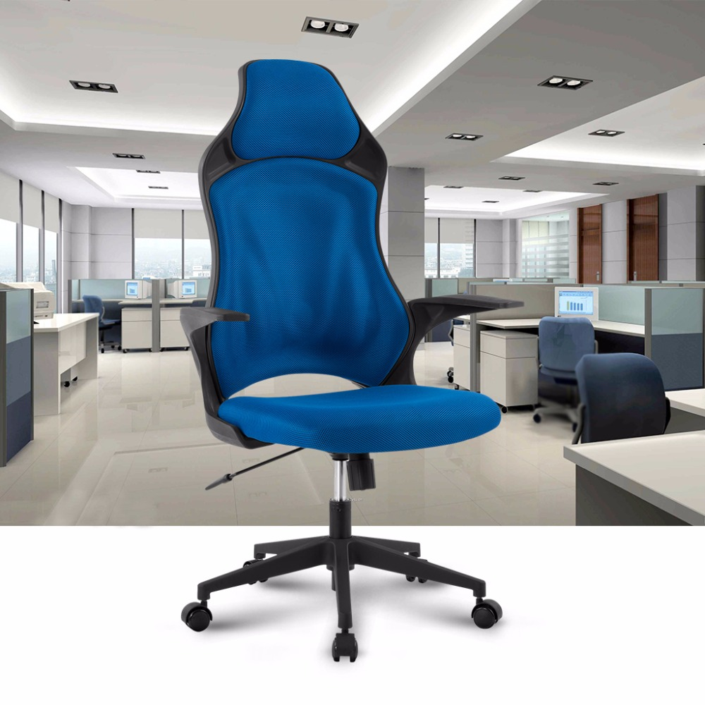 Blue Office: Ergonomic High Back Mesh Office Executive Gaming Chair 360