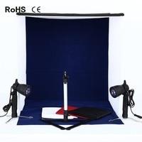 60cm*60cm/23.6inch*23.6inch Portable Photography Lighting Tent Photo Studio Light box 4 Backdrops&2*50w SpotlightLamps