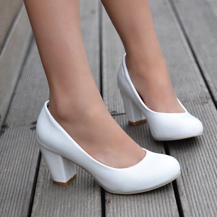 2017 Sapato Feminino Zapatos Mujer Tacon Große Größe 34-43 Farbe Neue Frühlingsherbstfrauen Pumpt Frauen Schuhe High Heels Pu 222-1 Moderate Kosten