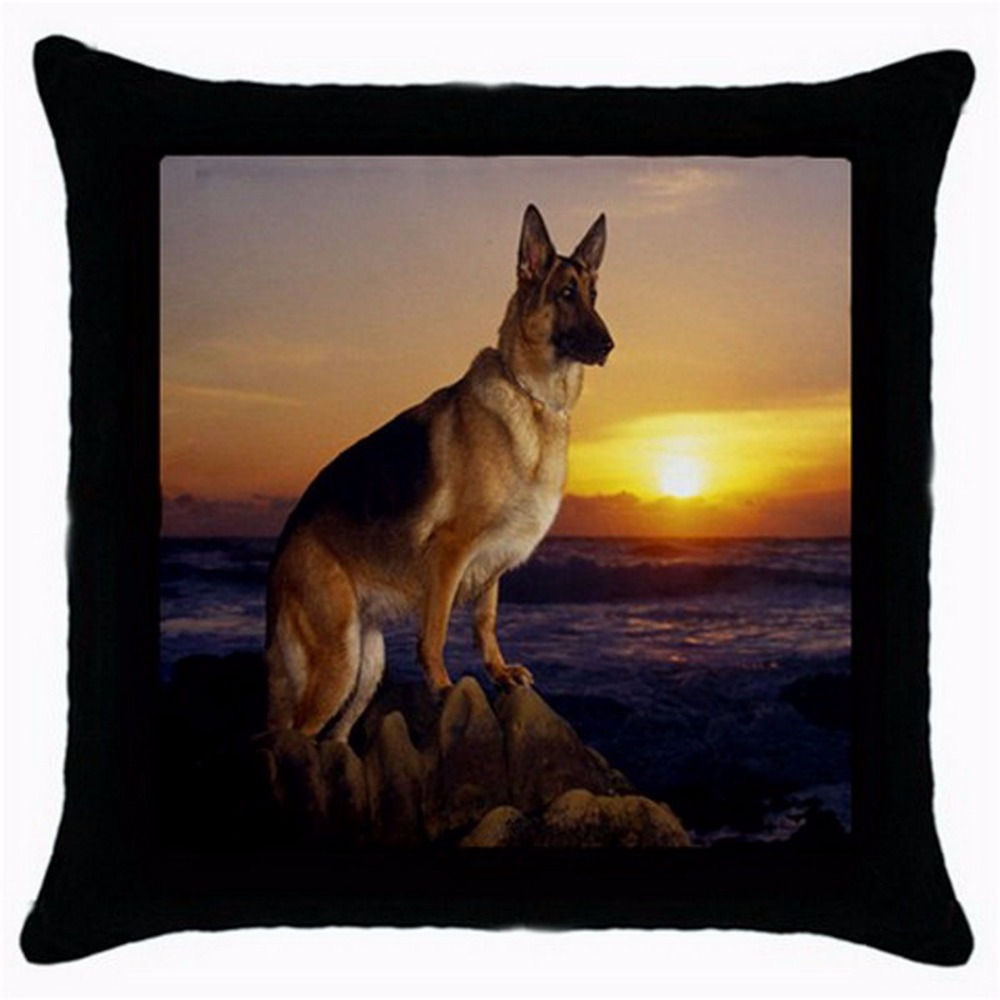 German Shepherd Dog Cushions Covers Dogs Throw Pillow Case Black Printed Sofa Car Seat Pillows Sham Pet Animal Gift In Cushion Cover From Home