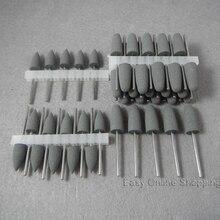 50 יחידות גריי שיניים סיליקון מלטשי שרף בסיס אקריליק ליטוש Burs חדש מעבדת השיניים burs