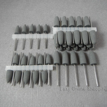 50pcs Grey Dental SILICONE Polishers Resin Base Acrylic Polishing Burs New Dental lab burs