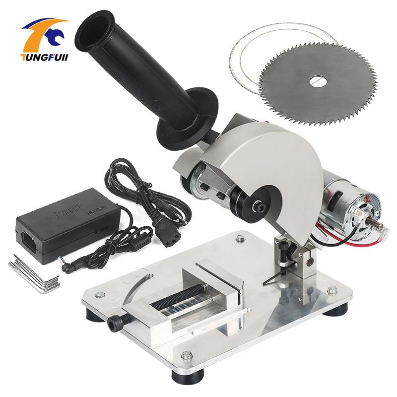 DIY Drill Micro Cutting Machine Mini Small Aluminum Alloy Table Saw Cutting Aluminum Machine Stainless Steel