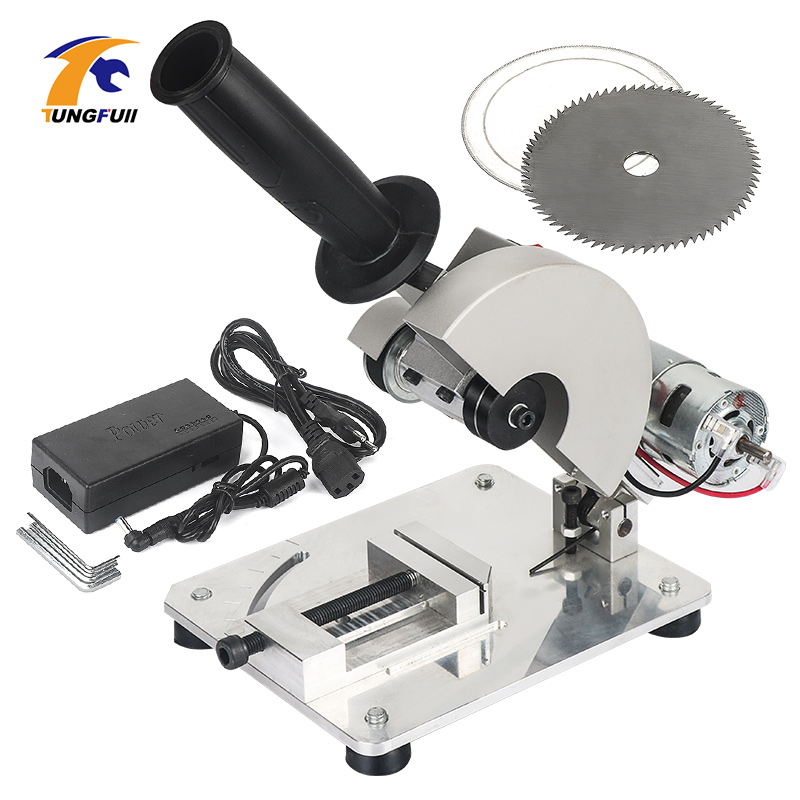 DIY Drill Micro Cutting Machine Mini Small Aluminum Alloy Table Saw Cutting Aluminum Machine Stainless Steel Copper Electric Saw