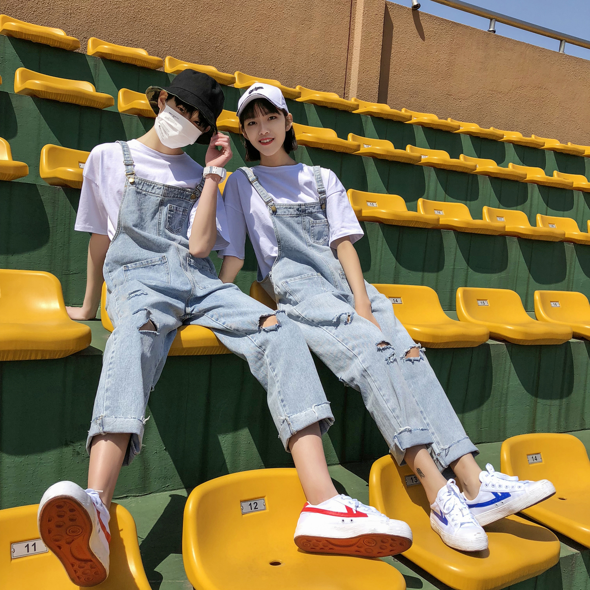 Well-Educated Summer Boyfriend Style Baggy Ripped Denim Jumpsuits Hip Hop Distrressed Suspenders Bib Pants Spring Swag Jean Overalls A51807 Sale Price Jeans