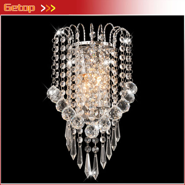 Best Price Modern Crystal Wall Lamp Living Room Bedroom Bedside Lamp Hotel Project E14 LED Corridor Lights W18cmxH32cm