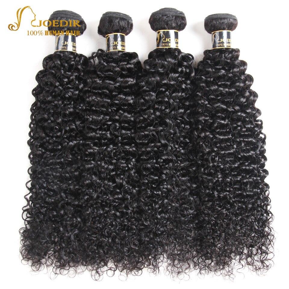 Joedir Pre Colored brazilian hair weave bundles 4 Bundles Deal Brazilian Afro Kinky Curly Hair Bundles Non Remy Free Shipping
