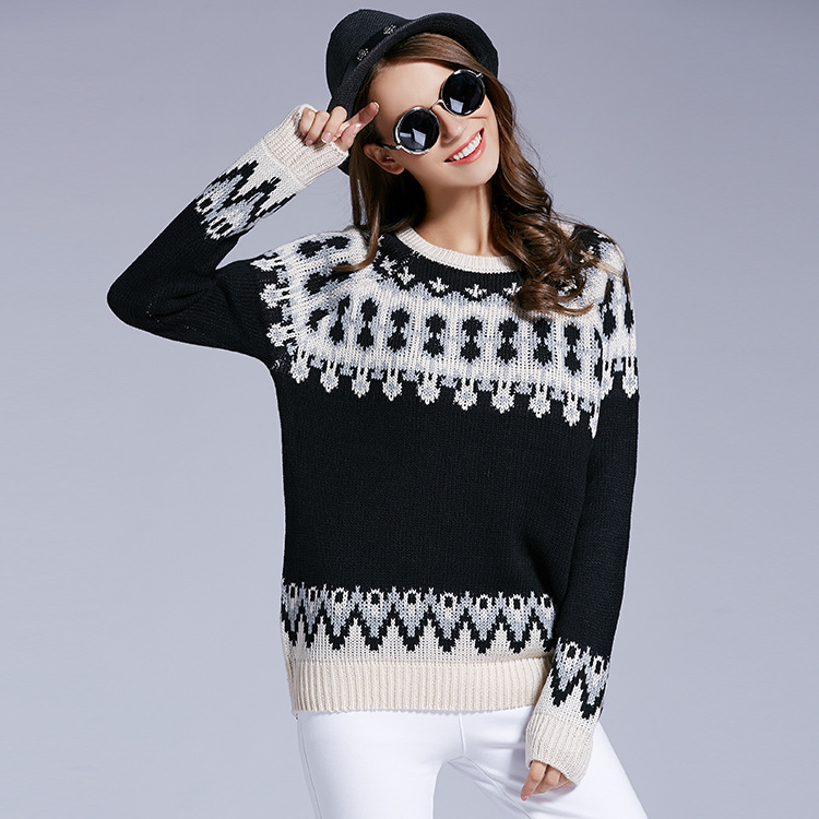 2016 New Fashion Cute Ugly Christmas Sweater Womens Winter Long Sleeve Knitted Christmas Pullover Sweater Y1208-45E