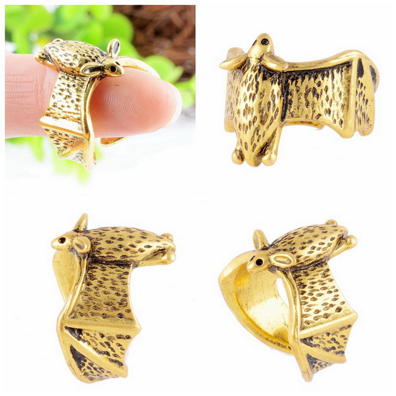 4 Colors Bat Rings Jewelry Fashion Animal Rings For Women Unique Animal Rings Female Adjustable Rings Black Friday 2016 Gifts