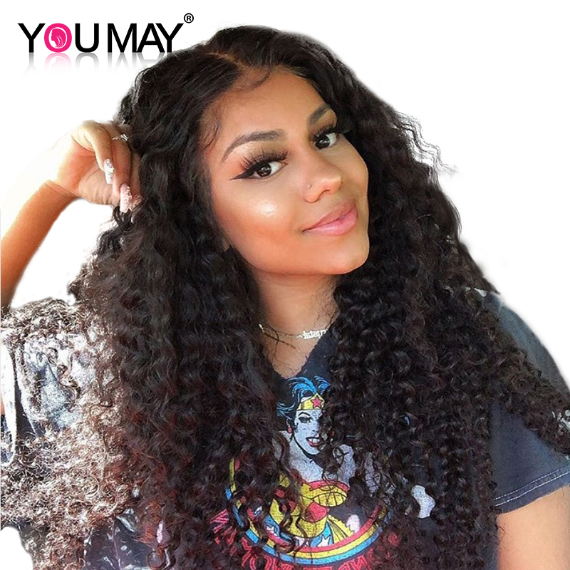 360 Lace Wigs For Women 150% Density Brazilian Kinky Curly Lace Front Human Hair Wigs With Baby Hair You May Remy Hair