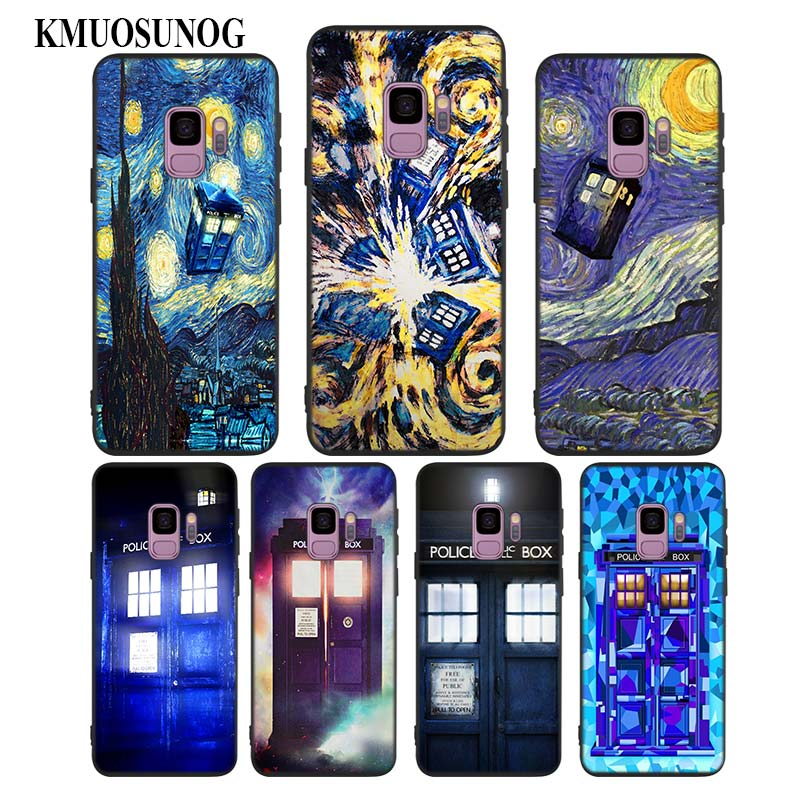 Lvhecn Phone Case Cover For Samsung Galaxy S5 S6 S7 S8 S9 S10 Edge Plus S10e Lite Note 5 8 9 Doctor Who Tardis Police Phone Box Cellphones & Telecommunications