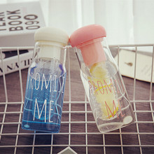 750ml promise me High temperature resistance 3 colors Borosilicate glass fruit  water bottle with fruit filter