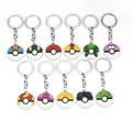 12 Styles Cartoon Pocket Monster Pokemon Pikachu Ash Ketchum Figures Poke Ball Keychain Keyring Pendant