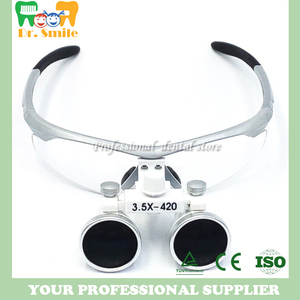 Image 3 - D  loupes  magnifying glasses dental and surgical loupes with head light packed in aluminium box
