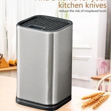 Лидер продаж, стальной держатель для кухонных ножей, большая емкость, многофункциональный, 6 дюймов, блок для ножей, подставка, держатель для инструментов, аксессуары для приготовления пищи