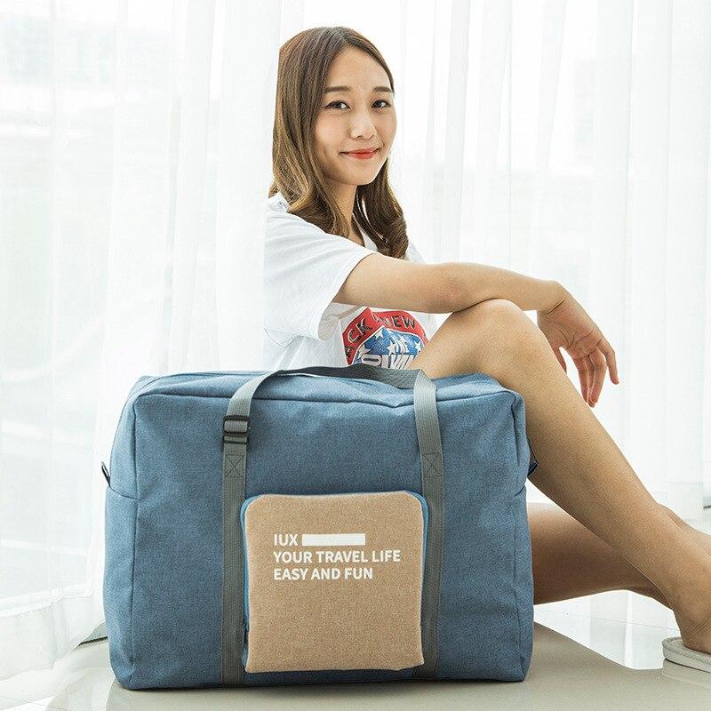 S.IKRR Waterproof Nylon Travel Bags Women Men Large Capacity Folding Duffle Bag Hand Luggage Organizer Girl Weekend Bag