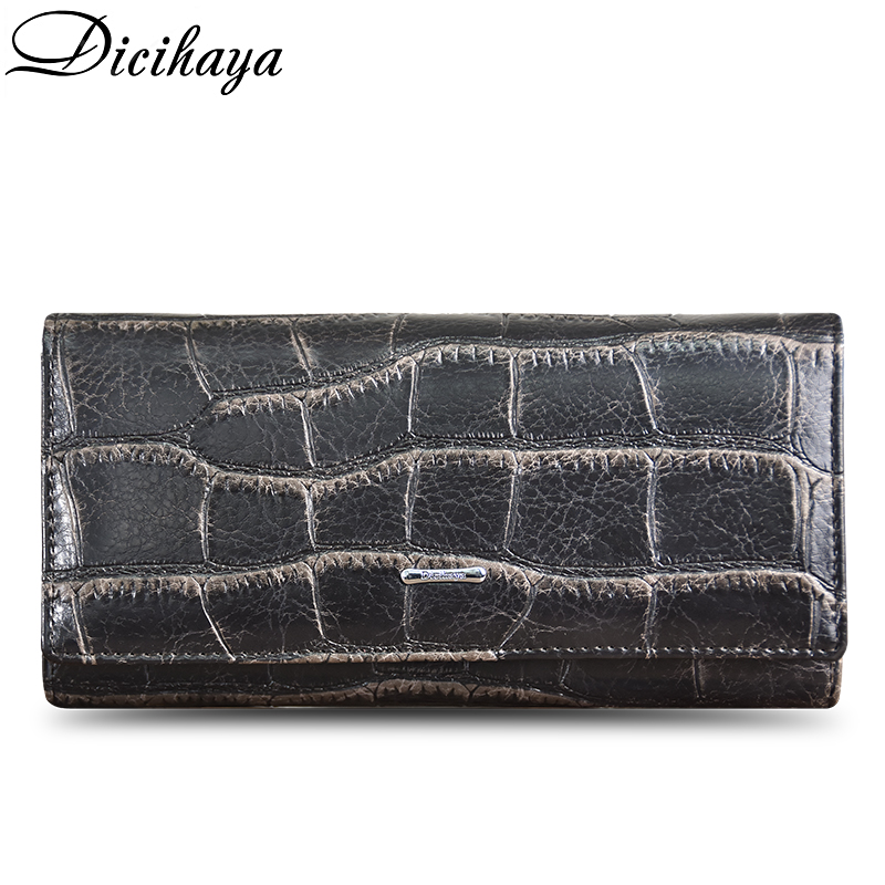 DICIHAYA Women Wallets Fashion Lady Long Money Bag Zipper Coin Purse Cards ID Holder Woman Wallet Burse Notecase Phone Pockets