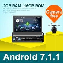 אנדרואיד 7.1 עבור אוניברסלי 1 דין רכב נגן DVD HD רכב רדיו GPS ניווט סטריאו לרכב עם Bluetooth   Wifi   USB   FM   אחורי מצלמה