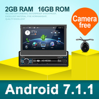 Android 7.1 For Universal 1 Din Car DVD Player HD Car Radio GPS Navigation Car Stereo with Bluetooth+Wifi+USB+FM+Rear camera