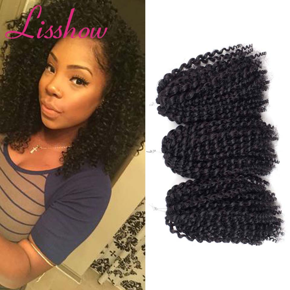 Kinky Culry Hair Ombre Curly Crochet Braids Extension