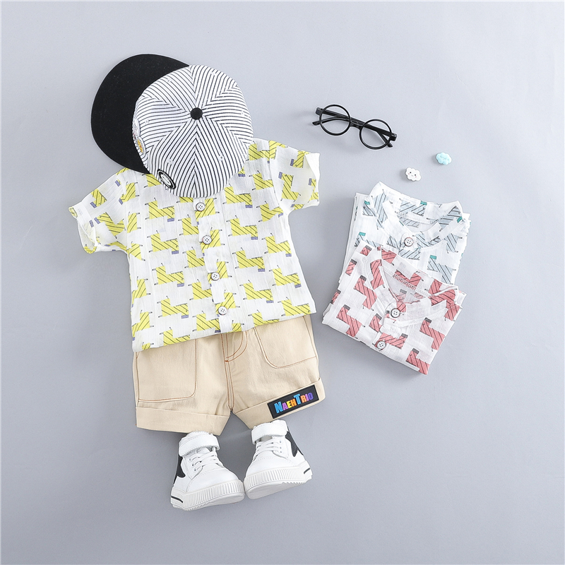 2019 Summer Baby Boys Clothing Sets Kids Children Clothes Suits Cartoon Horse T Shirt Shorts Infant Toddler Casual Suit in Clothing Sets from Mother Kids