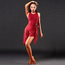 Платье для латинских танцев, женская одежда высокого класса, одежда для профессионального представления, сексуальные костюмы с кисточками, платье для латинских танцев, арт-A3163