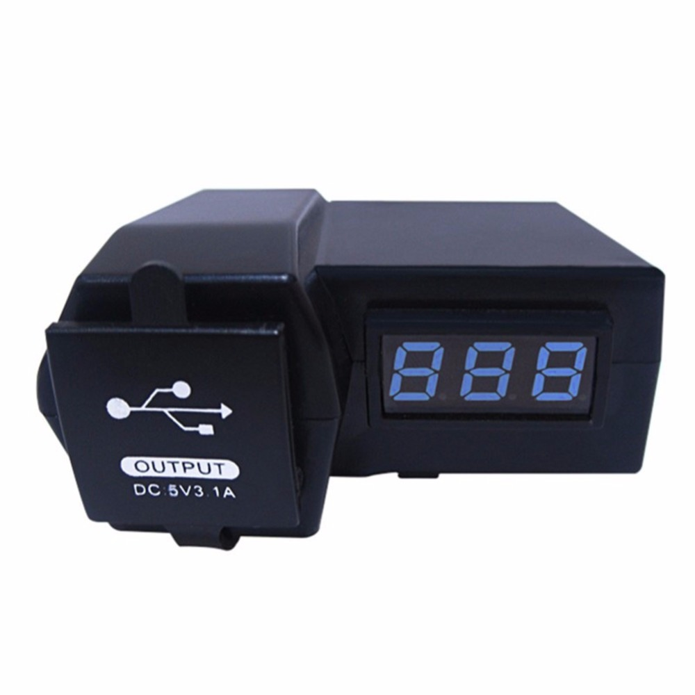 Hot 2 in1 Motorcycle Voltmeter 12V Car Scooter ATV with Dual USB Power Socket Charger LED Digital Display Car Cigarette Lighter 3in1 car auto digital led thermometer usb charger cigarette voltmeter 12v 24v 3color g205m best quality